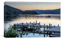 Sunset at St Fillans, Canvas Print