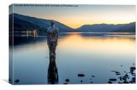 Mirror Man at St Fillans, Canvas Print