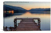 Jetty at St Fillans, Loch Earn, Canvas Print