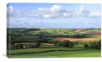 Welcome to Devon, Canvas Print