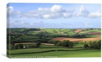 Welcome to Devon, Canvas Print