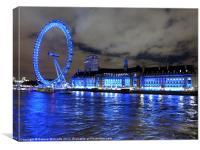 London Eye at night, Canvas Print