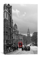 Big Ben & the London Bus, Canvas Print