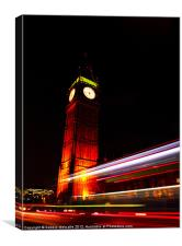 Big Ben at night, Canvas Print