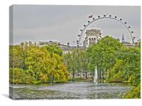 London Eye and Horse Guards, Canvas Print