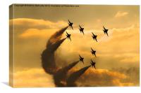South Korean Aerobatic team - The Black Eagles, Canvas Print