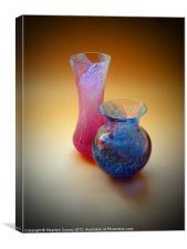 Pink Vase, Blue Vase - Still Life, Canvas Print