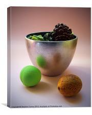 Silver Bowl with Pot Pourri, Canvas Print