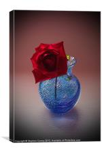 Still Life with Red Rose, Canvas Print