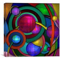 Orbiting Spheres, Canvas Print