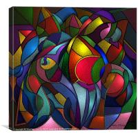 Abstract Still Life of Fruit, Canvas Print