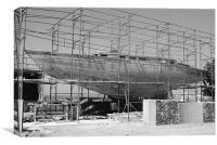 Boat Building, Canvas Print