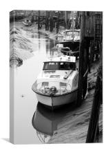 Boats in Creek, Canvas Print