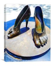 High Heelsin bronze, Canvas Print