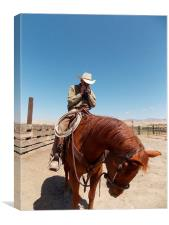 Cowboy and his Caddillac, Canvas Print