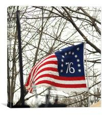 1776 Freedom Flag, Canvas Print