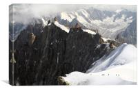 Peaks of Mount Blanc, Canvas Print