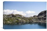 Glacial lake on Alps, Canvas Print