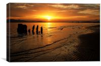 sunset over arran north shore, Canvas Print