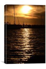 Trieste Harbour, Canvas Print
