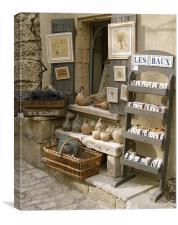 Provencal Shopping, Canvas Print