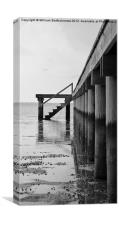 Pier at Low Tide, Canvas Print