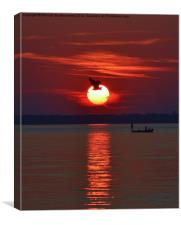 Sunset Fishing, Canvas Print