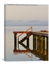 Reflecting Pier, Canvas Print
