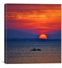 Big Sun Paddle, Canvas Print