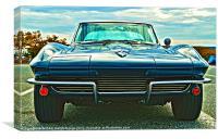 Classic Car - Corvette Stingray, Canvas Print
