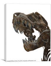 T-Rex Attack, Canvas Print