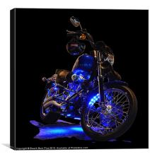 Motorcycle Glow, Canvas Print