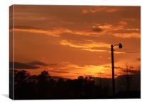 Beautiful Sunset Sky, Canvas Print