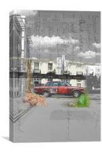 Car Collage, Canvas Print