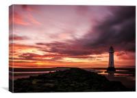 Lighthouse Sunset, Canvas Print