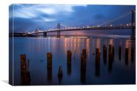 Bay Bridge Reflections, Canvas Print