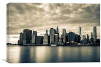Downtown Manhattan Skyline, Canvas Print