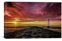 Sunset at Perch Rock, Canvas Print
