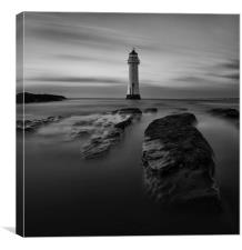 Perch Rock mono moment, Canvas Print