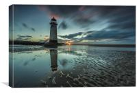 Point of Ayr Lighthouse, Canvas Print