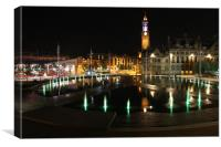 Bradford By Night, Canvas Print