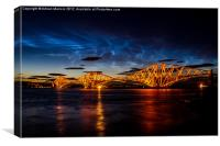 Noctilucent clouds  over Forth Rail Bridge, Canvas Print