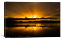 Loch Leven Golden Sunset, Canvas Print