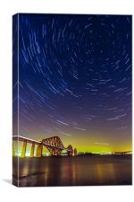 Forth Bridge Star Trails, Canvas Print