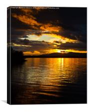 Sunset on Loch Leven, Canvas Print