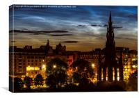 Noctilucent Clouds over Edinburgh, Canvas Print