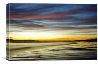 Arran from Seamill Beach, Canvas Print