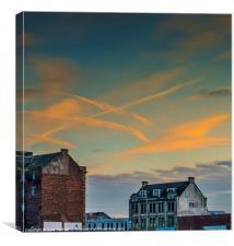 A Glasgow Sunset, Canvas Print
