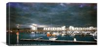 Storm Clouds over Ardrossan Marina, Canvas Print