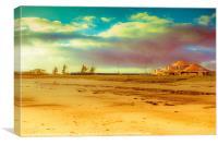 Clouds over Seamill Beach, Canvas Print